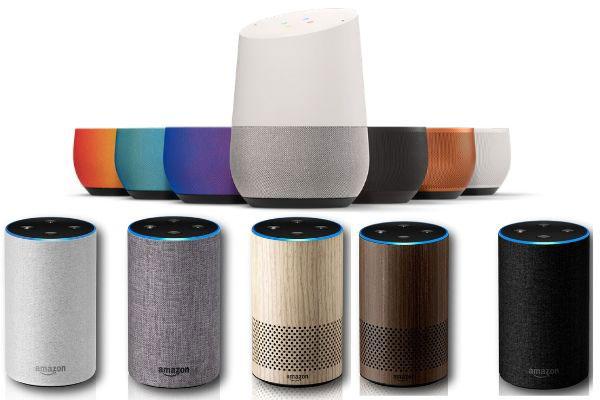 colores Amazon Echo y google home
