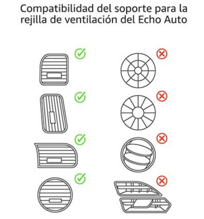compatibilidad rejillas coche echo auto
